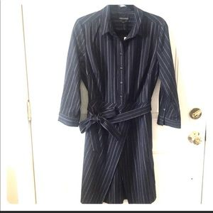 NWT BANANA REPUBLIC Pinstripes Navy Dress